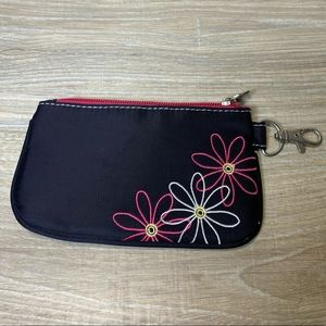 Travelon RFID Blocking Daisy Zip Coin Pouch Wallet